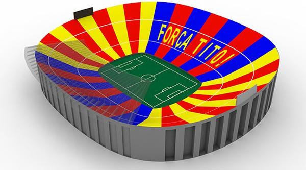Fan Barcelona nhuộm vàng sân Nou Camp để tri ân Tito Vilanova 1