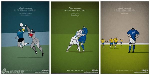 """Ấn tượng với bộ tranh lịch sử bóng đá theo """"phong cách"""" hoạt hình 1"""