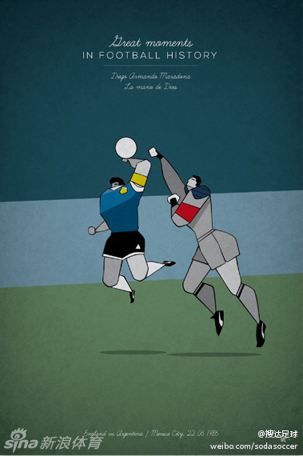 """Ấn tượng với bộ tranh lịch sử bóng đá theo """"phong cách"""" hoạt hình 5"""