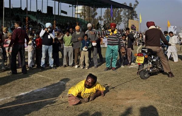 """Lái xe bằng thang, đua bò... và các môn thể thao cực """"dị"""" tại Ấn Độ 13"""