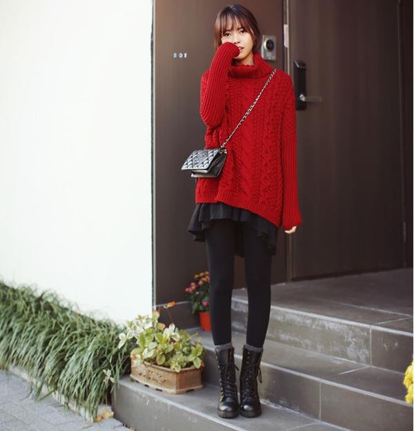 """Mặc xinh ngày se lạnh với """"bộ đôi"""" áo len - chân váy xòe  13"""