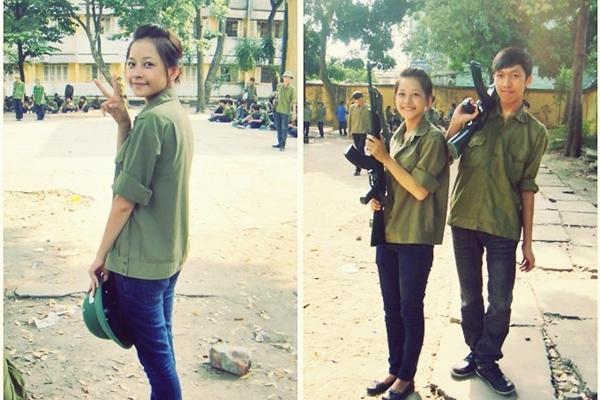 Ngỡ ngàng hot girl Việt giản dị mà cực dễ thương khi mặc quân phục 7