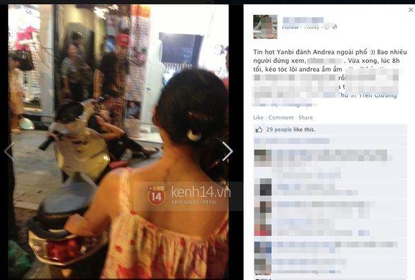 Andrea xác nhận bị Yanbi đánh ngay giữa phố Hàng Trống 6