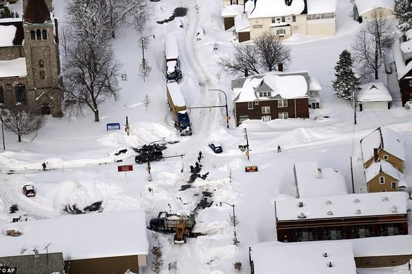 Chùm ảnh nước Mỹ đóng băng trong lớp tuyết dày không tưởng 6
