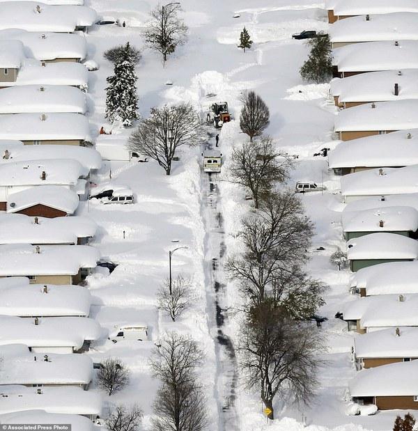 Chùm ảnh nước Mỹ đóng băng trong lớp tuyết dày không tưởng 4
