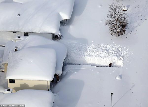 Chùm ảnh nước Mỹ đóng băng trong lớp tuyết dày không tưởng 1
