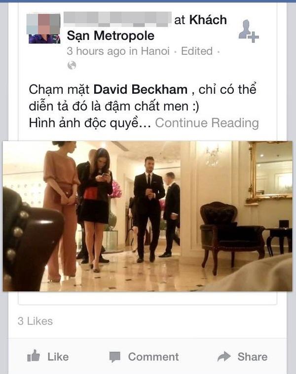 Cư dân mạng rào rào chia sẻ ảnh được gặp David Beckham  8