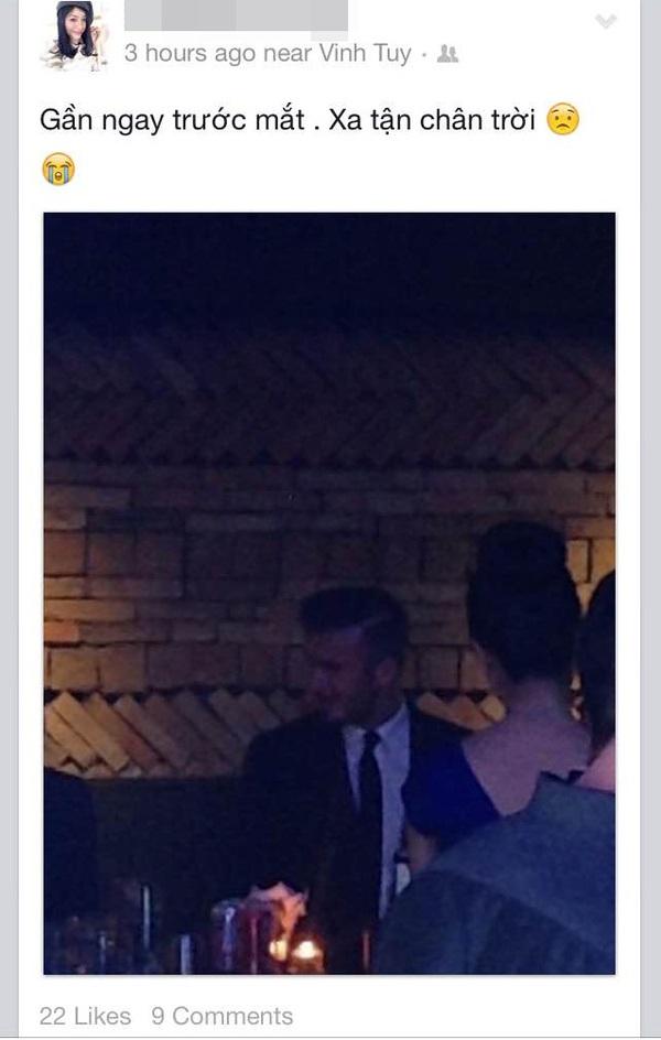Cư dân mạng rào rào chia sẻ ảnh được gặp David Beckham  9