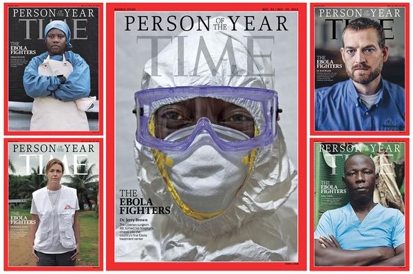 """Tạp chí Time bình chọn """"những người chiến đấu chống Ebola"""" là nhân vật của năm 1"""