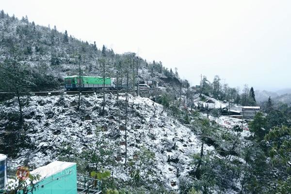 Chùm ảnh: Du khách thích thú chụp ảnh cùng tuyết trắng ở Sa Pa 17