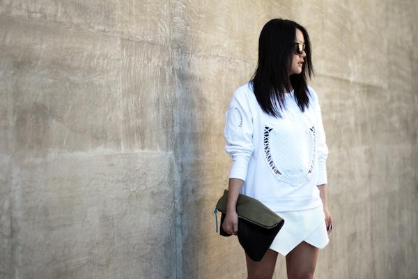 """Skort - Chiếc quần """"tràn ngập"""" street style thế giới Hè 2013 24"""