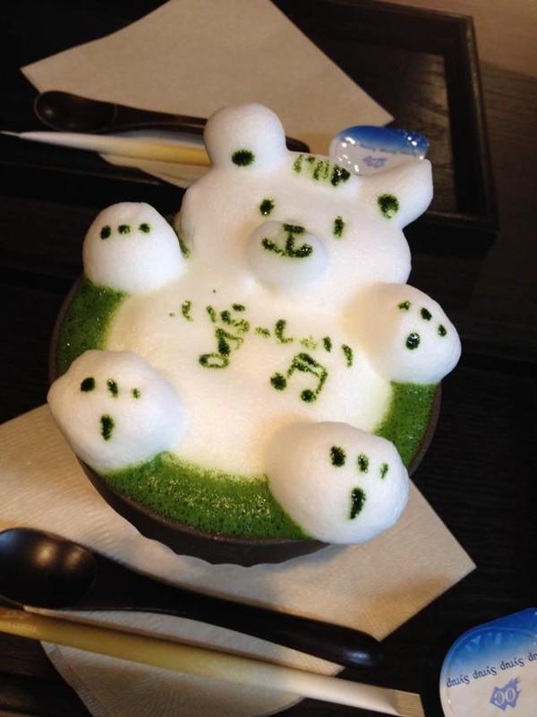 """Những tác phẩm 3D nghệ thuật siêu """"cute"""" được thể hiện từ trà xanh 11"""