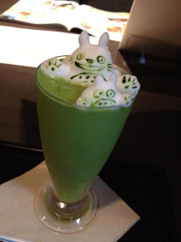"""Những tác phẩm 3D nghệ thuật siêu """"cute"""" được thể hiện từ trà xanh 12"""