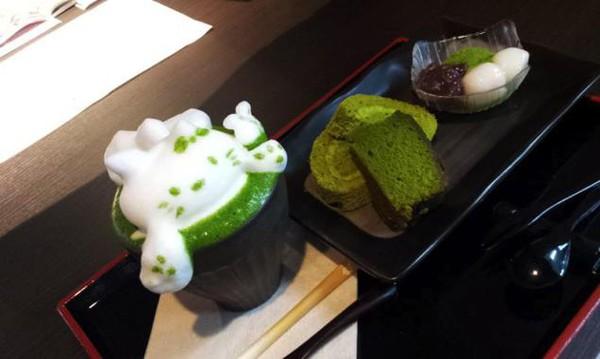 """Những tác phẩm 3D nghệ thuật siêu """"cute"""" được thể hiện từ trà xanh 13"""