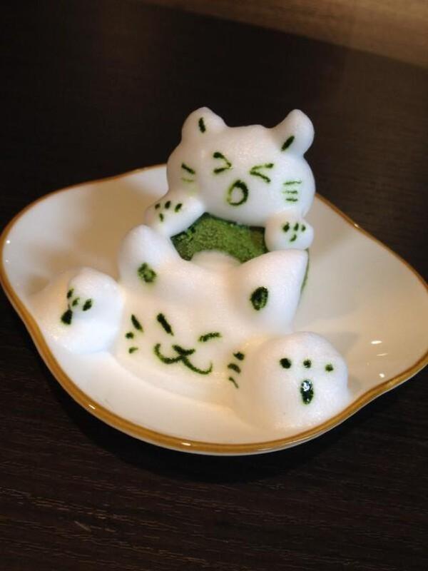 """Những tác phẩm 3D nghệ thuật siêu """"cute"""" được thể hiện từ trà xanh 3"""
