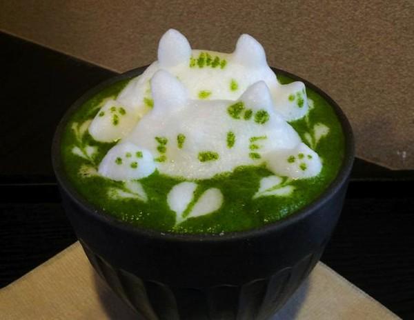 """Những tác phẩm 3D nghệ thuật siêu """"cute"""" được thể hiện từ trà xanh 4"""