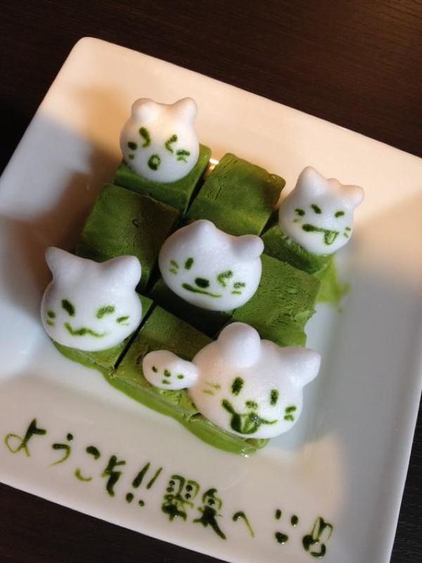 """Những tác phẩm 3D nghệ thuật siêu """"cute"""" được thể hiện từ trà xanh 7"""