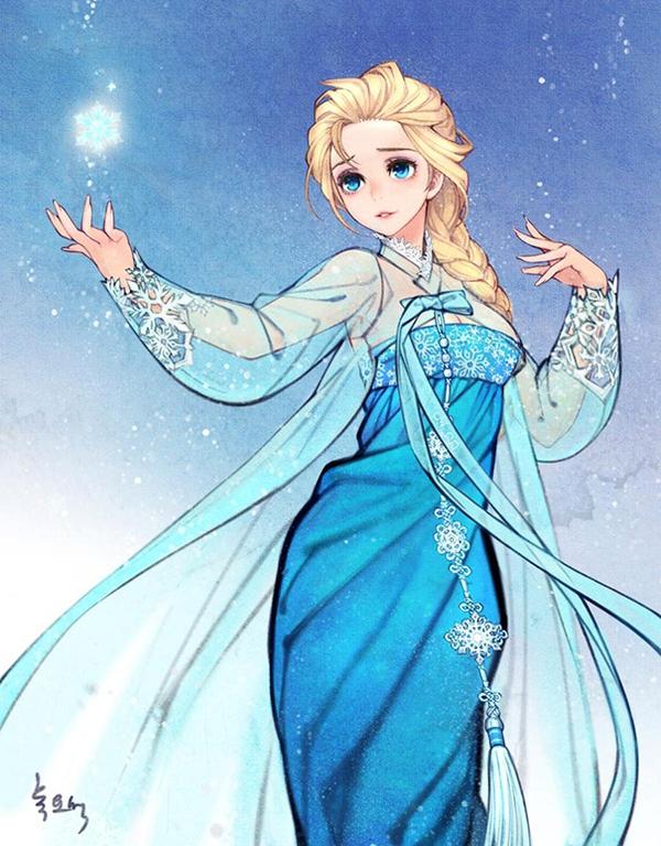 Khi những nàng công chúa Disney là... ngư�i Hàn Quốc 2
