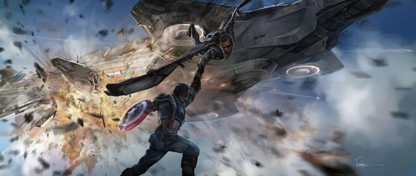 Captain America được đồng đội cứu thoát trong gang tấc 1