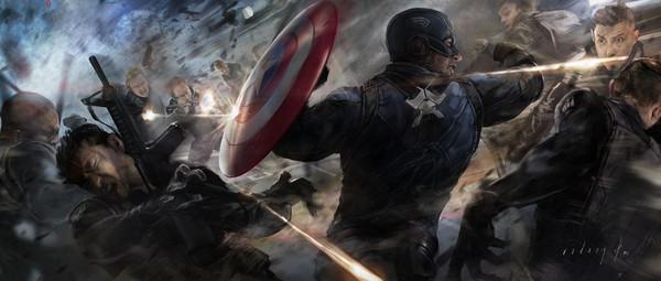 Captain America được đồng đội cứu thoát trong gang tấc 3
