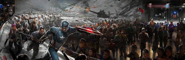 Captain America được đồng đội cứu thoát trong gang tấc 5