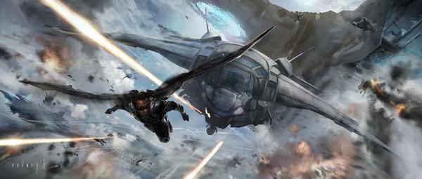 Captain America được đồng đội cứu thoát trong gang tấc 2