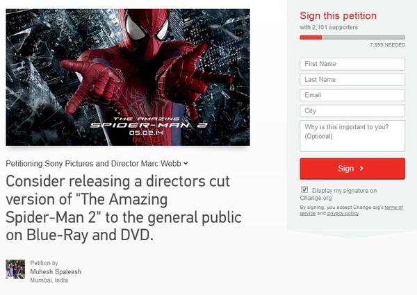 """Fan đấu tranh đòi được xem cảnh bỏ của """"The Amazing Spider-Man 2"""" 1"""