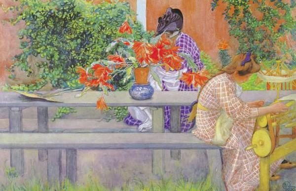 Tình yêu gia đình trong tranh họa sĩ được yêu thích nhất của Thụy Điển 1