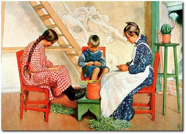 Tình yêu gia đình trong tranh họa sĩ được yêu thích nhất của Thụy Điển 3