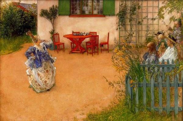 Tình yêu gia đình trong tranh họa sĩ được yêu thích nhất của Thụy Điển 5