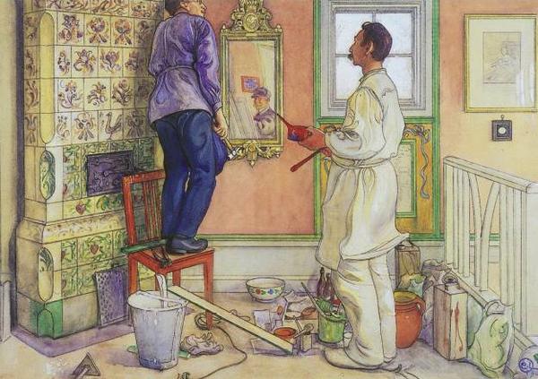 Tình yêu gia đình trong tranh họa sĩ được yêu thích nhất của Thụy Điển 6