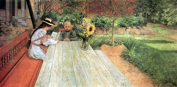 Tình yêu gia đình trong tranh họa sĩ được yêu thích nhất của Thụy Điển 7
