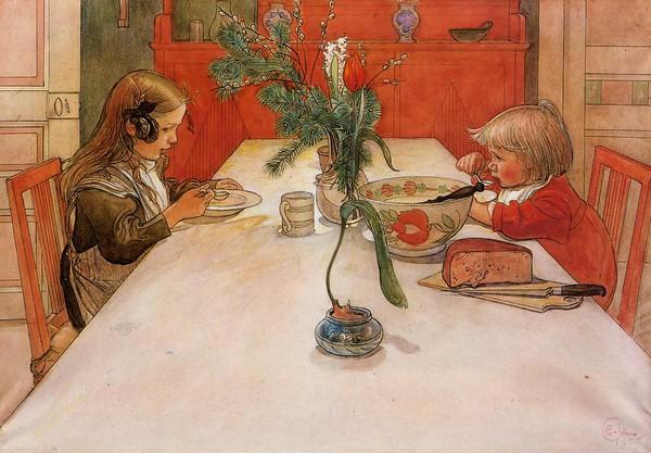 Tình yêu gia đình trong tranh họa sĩ được yêu thích nhất của Thụy Điển 8
