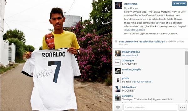 Chia sẻ của Ronaldo về cậu bé thoát sóng thần làm lay động trái tim 1