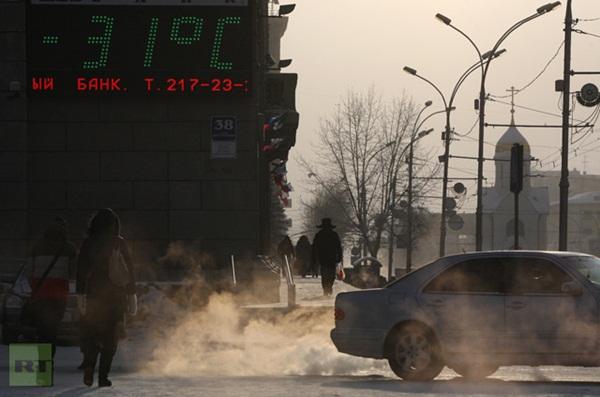Những hình ảnh đáng sợ về giá lạnh bất thường tại Nga 16