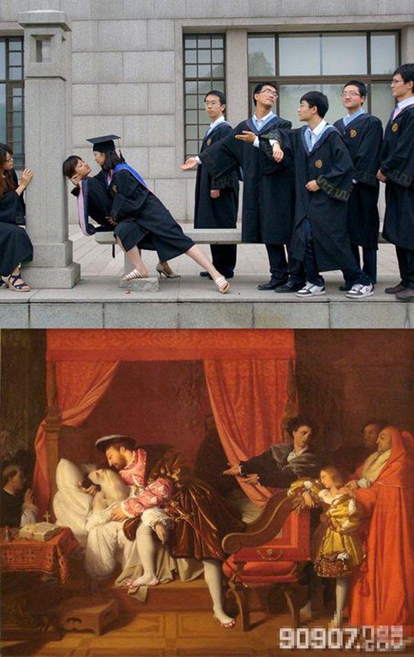 """Trào lưu chụp ảnh tốt nghiệp """"bắt chước"""" khiến giới trẻ thích thú 4"""