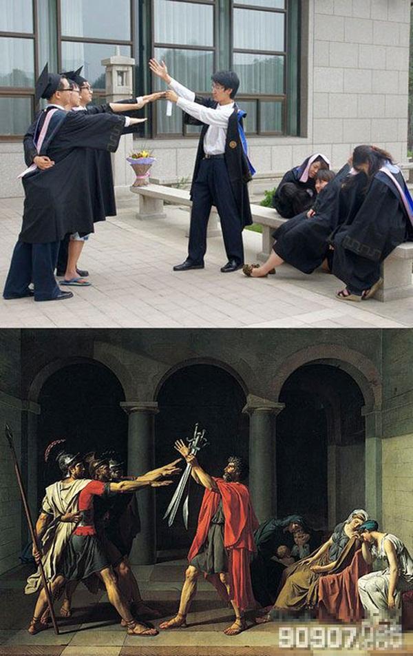 """Trào lưu chụp ảnh tốt nghiệp """"bắt chước"""" khiến giới trẻ thích thú 6"""