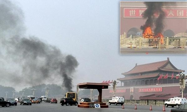 Cảnh sát truy lùng 8 nghi phạm vụ đâm xe ở Thiên An Môn  1