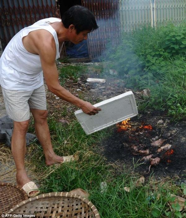 Chùm ảnh: Cảnh chế biến thịt chuột tại Việt Nam lên báo nước ngoài 14