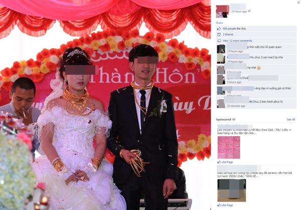 Cô dâu chú rể đeo đầy vàng trong đám cưới ở Hà Tĩnh  2