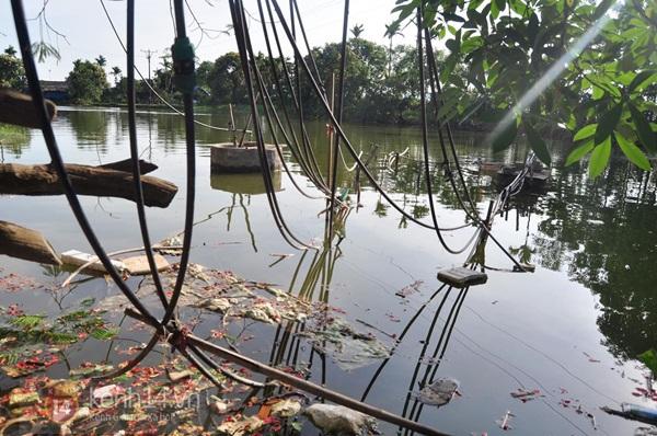 Hà Nội: Cả làng bơm nước ao tù để dùng làm nước sinh hoạt hàng ngày 2