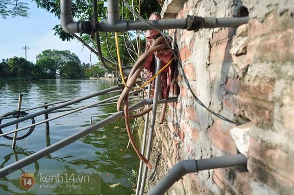 Hà Nội: Cả làng bơm nước ao tù để dùng làm nước sinh hoạt hàng ngày 4