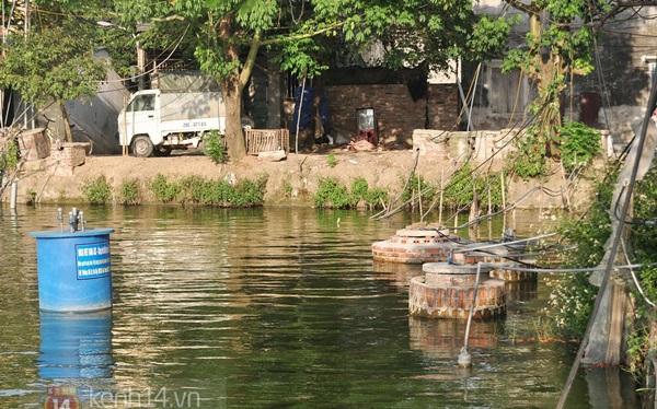 Hà Nội: Cả làng bơm nước ao tù để dùng làm nước sinh hoạt hàng ngày 5