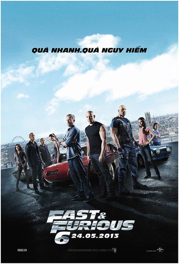 """""""Fast & Furious 6"""" chuẩn bị """"oanh tạc"""" rạp chiếu Việt 1"""