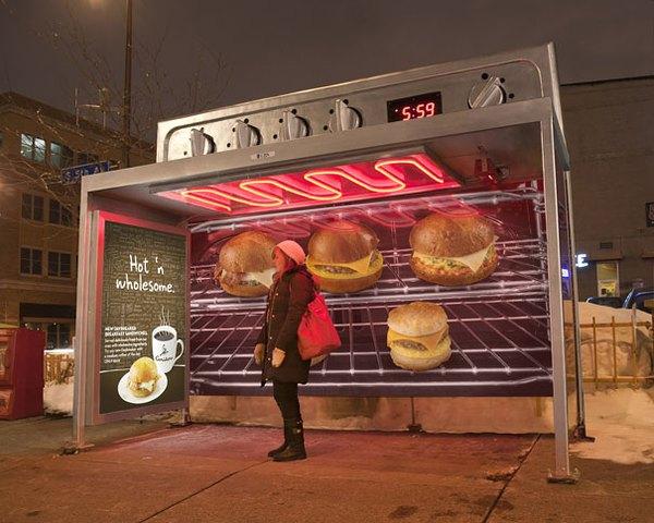 Độc đáo những ý tưởng quảng cáo ở bến xe bus 5