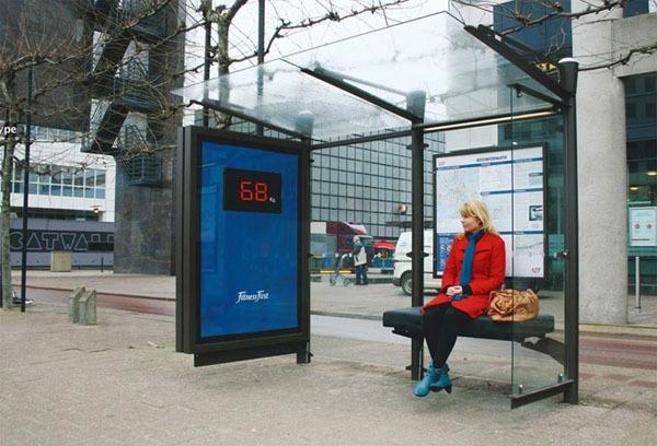 Độc đáo những ý tưởng quảng cáo ở bến xe bus 11