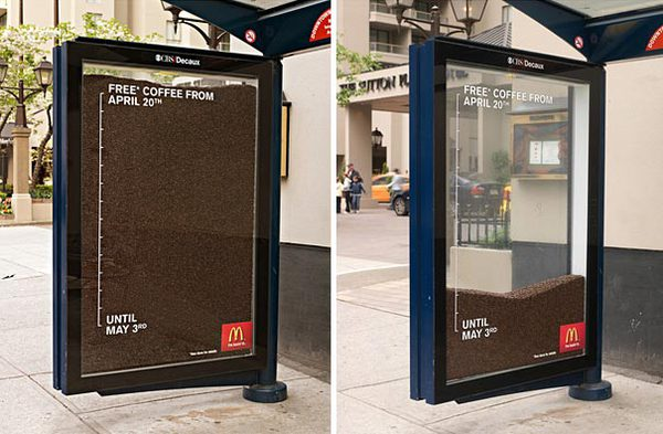 Độc đáo những ý tưởng quảng cáo ở bến xe bus 3