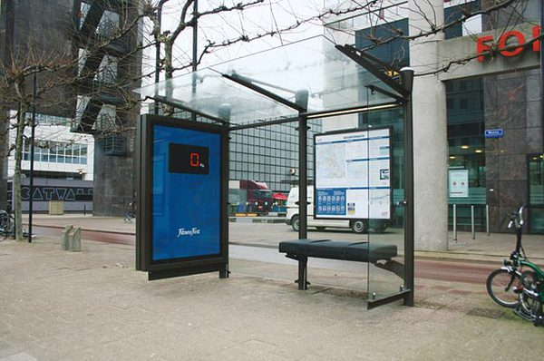 Độc đáo những ý tưởng quảng cáo ở bến xe bus 10