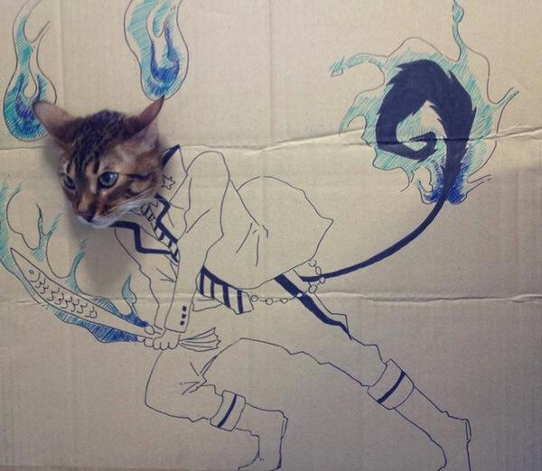 """Loài mèo biến hình qua những sáng tạo """"buồn cười"""" 1"""