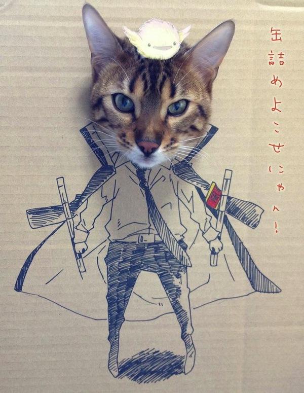 """Loài mèo biến hình qua những sáng tạo """"buồn cười"""" 7"""